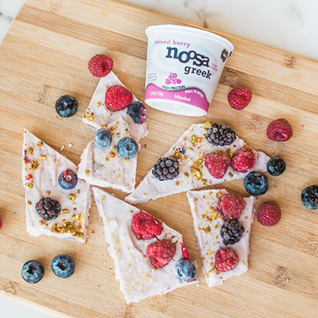 Mixed Berry Yoghurt Bark recipe photo