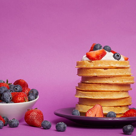 Waffles and Yogurt recipe photo