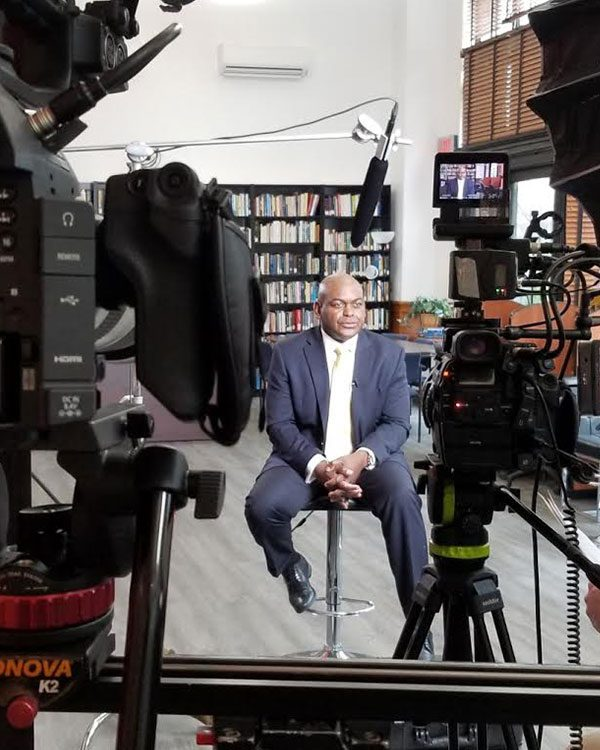 Dr. Rupert Hayles during ViewPoint interview.